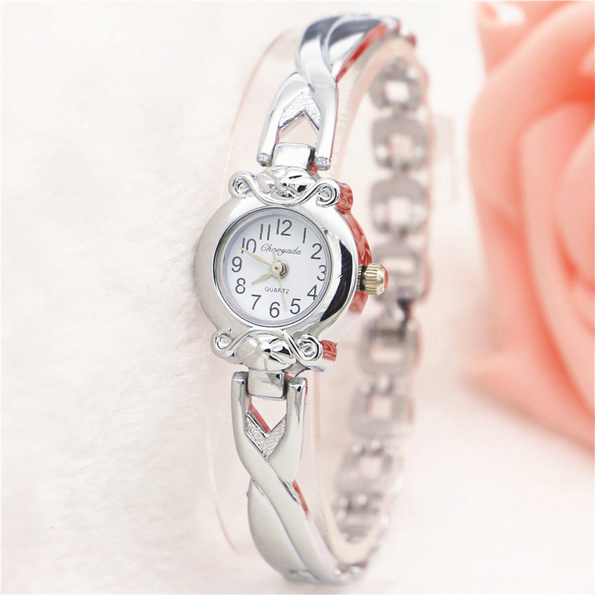 Gold Watches Women Fashion Ladies Quartz Silver Women's Bracelet Wrist Watch Dress Clock Wristwatches Relogio relojes mujer 2017 free shipping kezzi women s ladies watch k840 quartz analog ceramic dress wristwatches gifts bracelet casual waterproof relogio