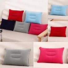 Cushion para Ultralight Inflatable PVC Nylon Air Pillow Sleep Cushion Travel Tour Bed Bedding Hiking  Car Plane Head Rest Pillow цены онлайн