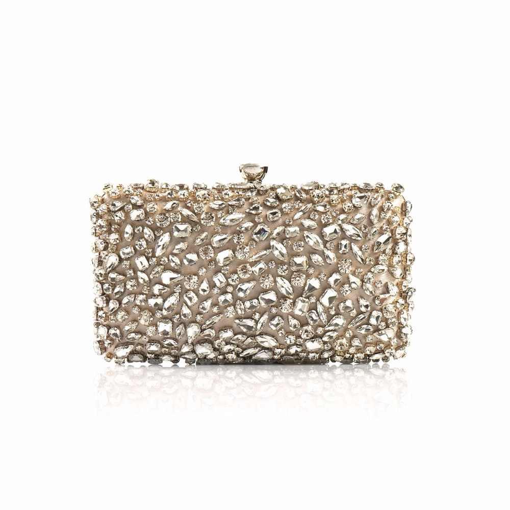 26a380b4f25b6 2018 Luxury Women Evening Bags Fashion Shiny Diamond Evening Clutch Women  Brand Party Bridal Box Shoulder