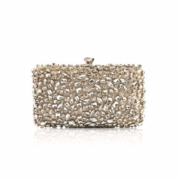 2018 Luxury Women Evening Bags Fashion Shiny Diamond Evening Clutch Women Brand Party Bridal Box Shoulder Bag Clutches Chain Evening Bags