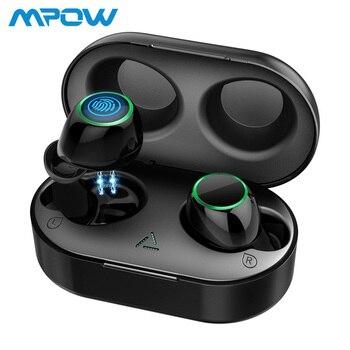 Auriculares Mpow T6 TWS inalámbricos Bluetooth 5,0 ipx7 impermeables 21 h tiempo de reproducción auriculares inalámbricos con micrófono para iPhone Xs xr Huawei
