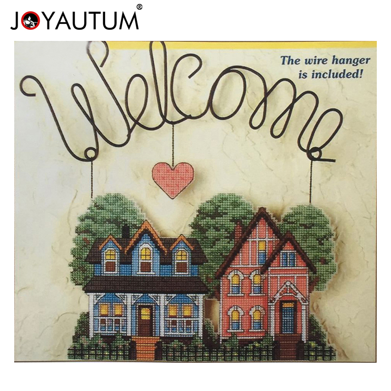 plastic cross stitch 2018 home decoration Landscape Welcome COUNTED CROSS STITCH BANNER KIT 14 count embroidery sets DMC qualityplastic cross stitch 2018 home decoration Landscape Welcome COUNTED CROSS STITCH BANNER KIT 14 count embroidery sets DMC quality