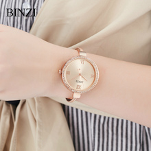 цены Women Watches 2018 Ladies Bracelet Rose Gold Big Dial Rhinestone Wrist Watch Quartz Clock Luxury Steel Fashion relogios feminino
