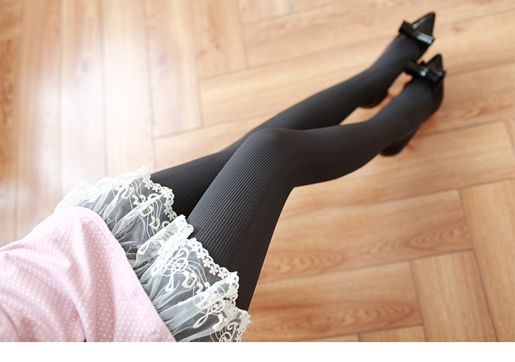 New Women's Tights, Stripe Velvet Hosiery, Solid Candy Color, Standard Stockings Pantyhose 20