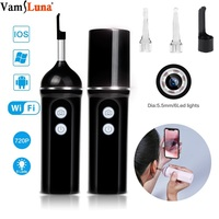 Wireless Otoscope WiFi Ear Visual Endoscope Nose Mouth Throat Camera Inspection Earwax Clean Tool For Checking Body Parts