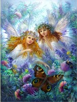 Full Square Drill Diamond Mosaic Painting Set Of Embroidery Kits Cross Stitch Decor Paint Angel And