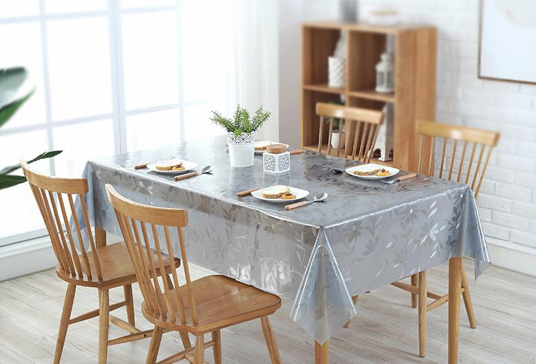0.5mm thickness PVC tablecloth Transparent plastic soft glass tablecloth PVC coffee mats Waterproof and oil wash free