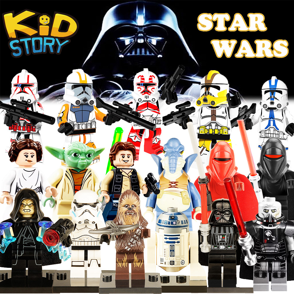 for-legoing-star-wars-chewbacca-bricks-font-b-starwars-b-font-luke-leia-han-solo-anakin-darth-vader-yoda-jar-jar-building-blocks-figures-toys