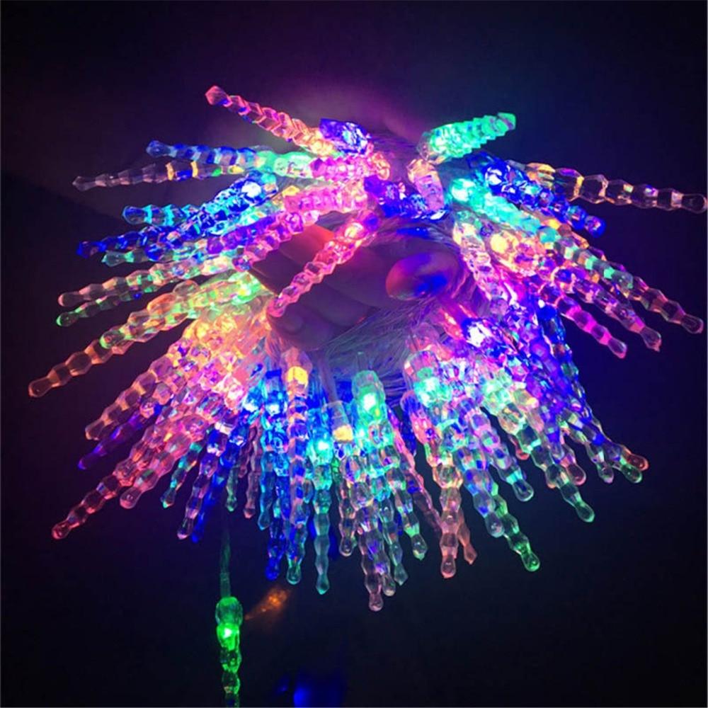 Icicle LED Baterie String Luminile colorate Zână Crăciun copac - Luminări festive