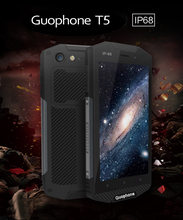 D'origine Guophone T5 Étanche IP68 Smartphone 5000 mAh Android 6.0 Quad Core téléphone portable 4G LTE 2 GB RM 16 GB ROM 8MP mobile téléphone