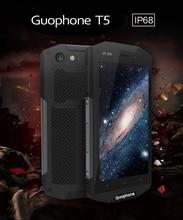 Оригинал Guophone T5 Водонепроницаемый IP68 Смартфон 5000 мАч Android 6.0 Quad ядро мобильного телефона 4 Г LTE 2 ГБ RM 16 ГБ ROM 8MP мобильного телефон