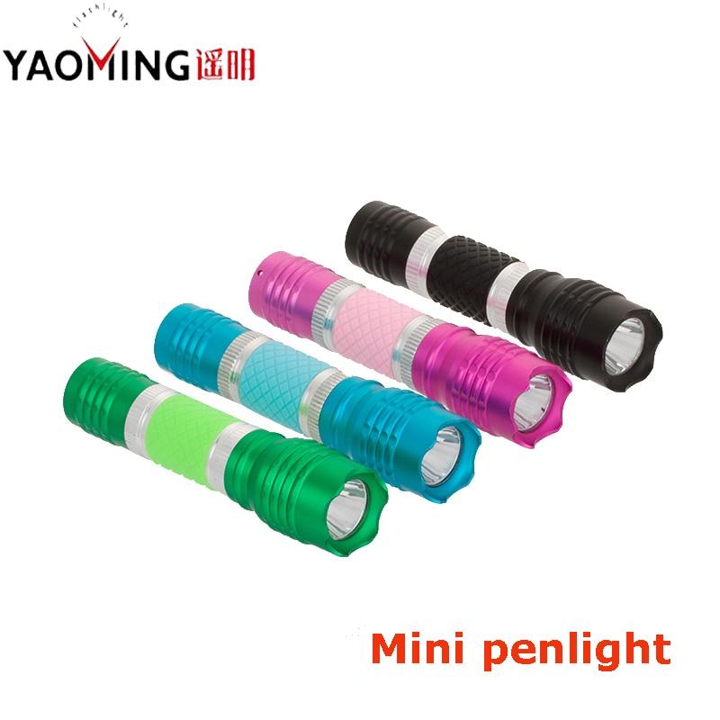 Portable Flashlight Cree Q5 3W Mini Flashlight 800LM Led Lantern Lamp Waterproof Led Linternas Torch Bike Light By AA or 14500