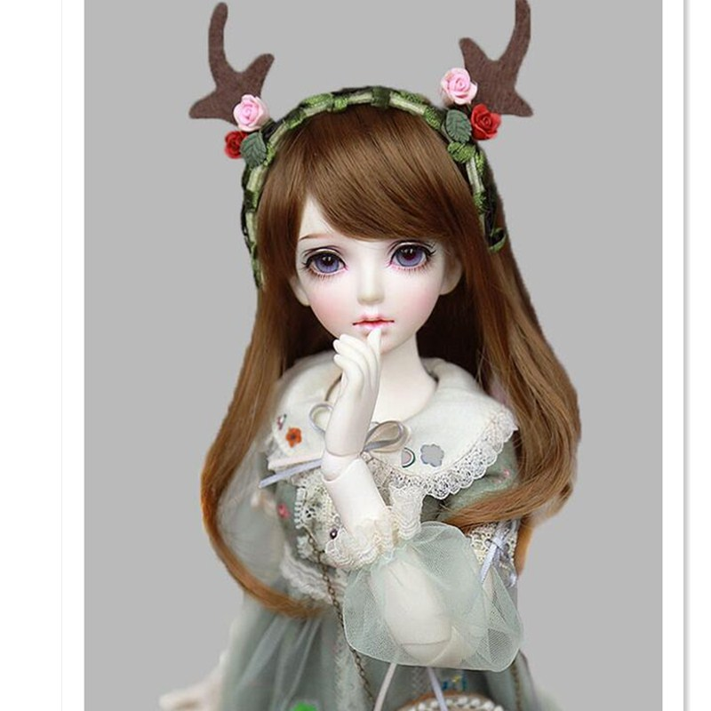 Beioufeng Fashion Doll Wig Long Wavy Wigs Sd Bjd Wig With