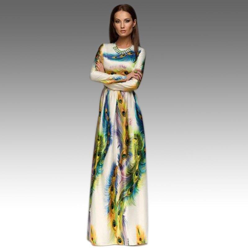 Long Sleeve Summer Maxi Dress