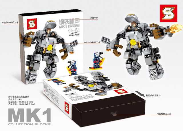 2017 Coming MK1 Super Heroes Avengers 2 Age Of Ultron Big Ironman Building Blocks Bricks Figures Best Children Gift