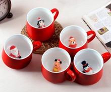 3D nette dreidimensionale tier kaffeetasse cartoon keramik saft becher becher Weihnachten kreative mode milch tasse 400 ML