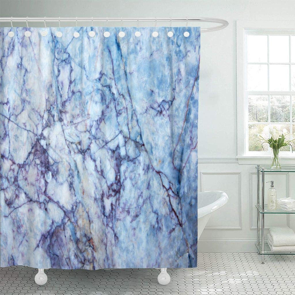 Us 16 0 40 Off Shower Curtain With Hooks Red Closeup Marble Colorful Striped Line Blue Granite Ink Mineral Nature Paint Abstract Bathroom In Shower