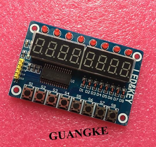 10pcs Key Display For AVR Arduino New 8-Bit Digital LED Tube 8-Bit TM1638 Module
