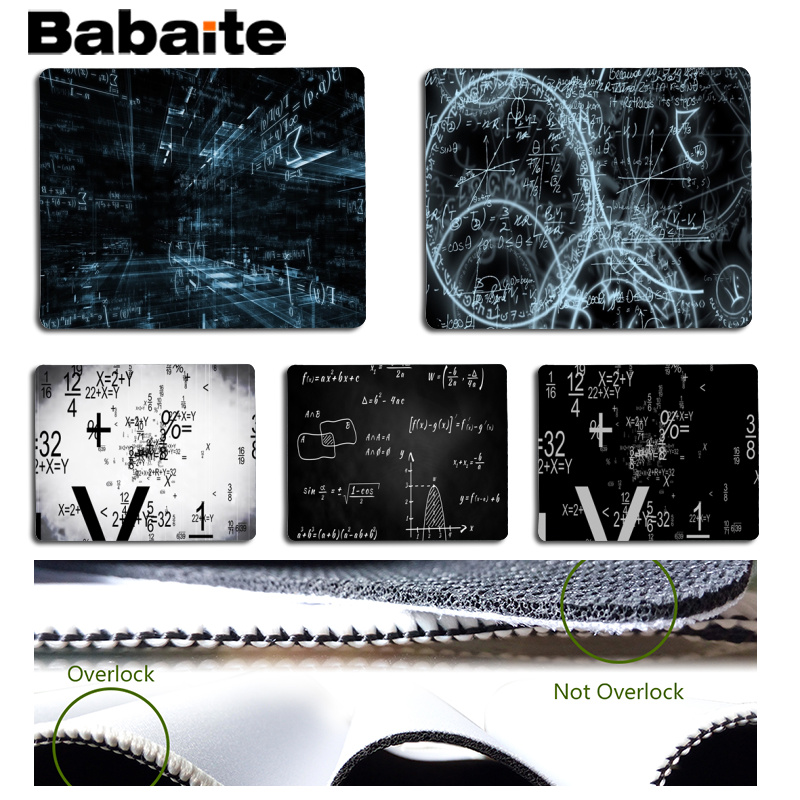 Babaite New Printed Mathematical Equations Computer Gaming Mousemats Size for 180x220x2mm and 250x290x2mm Small Mousepad