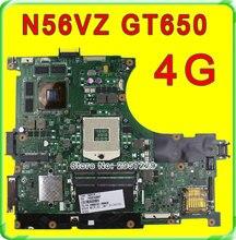 Original N56VZ Laptop Motherboard for Asus REV2.3 Mainboard GT650 4G PGA 989 HM76 Fit N56VM N56VJ N56VB N56VV tested well