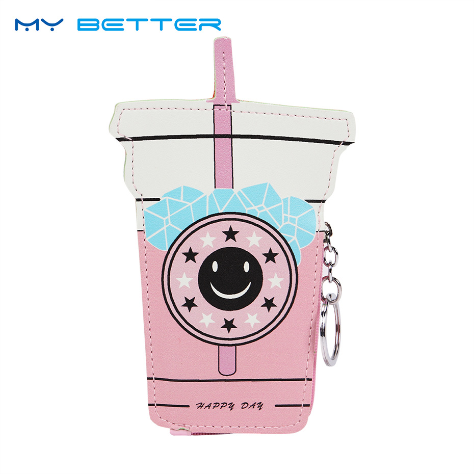 Cartoon Girls Coin Purses Handbag Cute Ice Cream Bottle PU Leather Zipper Pouch Children Wallet Small Bag for Keys Ring Carteira xydyy 2017 new women coin purses or handbags cute cartoon pu leather mini pouch kawaii children wallet small bag for keys