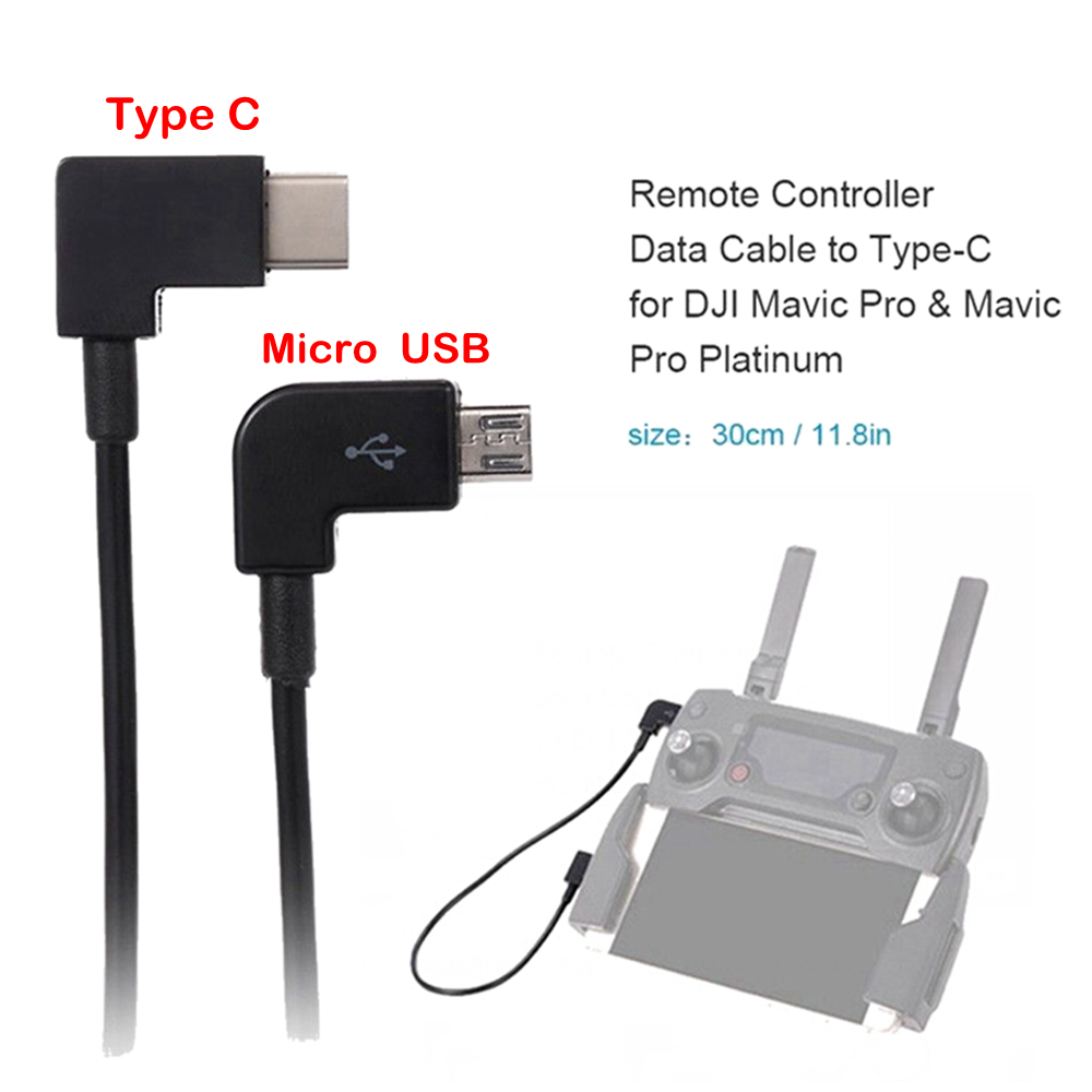 RC Remote Controller Micro USB to Type C Data Cable For DJI SPARK MAVIC AIR PRO