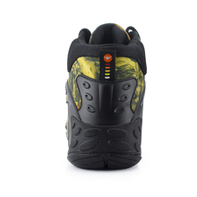 Men Hiking Shoes Waterproof Canvas Trekking Boots Anti-skid Breathable Fishing Camping Climbing Rubber Sole Outdoor Sneakers