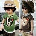 2016 summer cartoon bear children's clothing baby child short-sleeve boys girls T-shirt