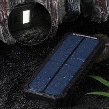 Liitokala солнечное зарядное устройство 20000 мАч Внешняя резервная батарея зарядное устройство двойной USB светодиодный блок питания для мобильного телефона