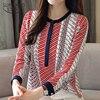 Chiffon Blouse Shirt Striped loose Woman Blouses  1