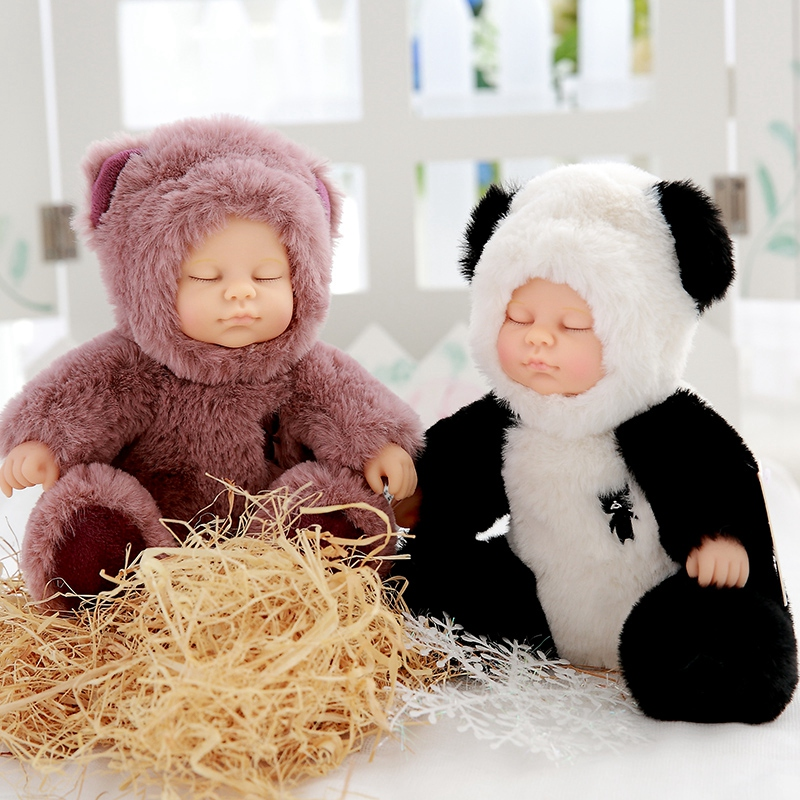 Adorable Plush Stuffed Toys Baby Dolls Reborn Doll Toy For Kids Sleeping Cute Plush doll Girl Lifelike Kids Toys Gift