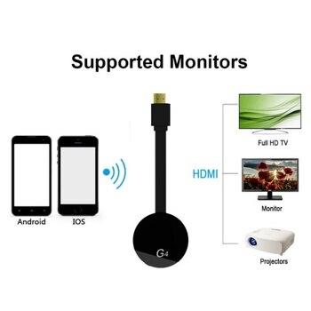 HDMI bezprzewodowy wyświetlacz Wecast G4 dla android ios YouTube Google Chrome Airplay wsparcie 4G danych sieci komórkowej odlewania mediów Streamer