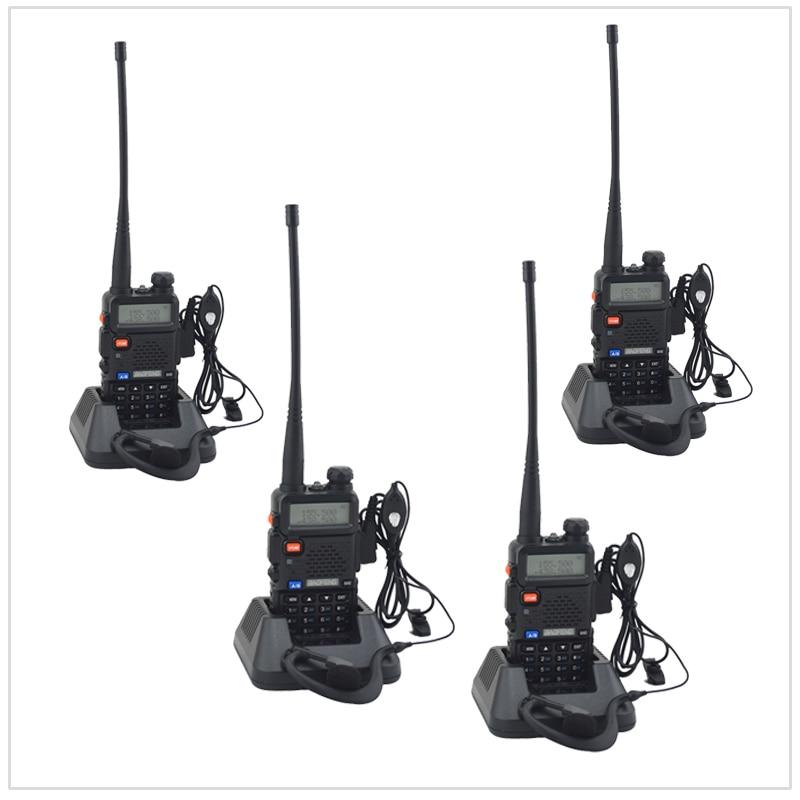 4 PCS/Lot baofeng bibande UV-5R talkie walkie radio double affichage 136-174/400-520 mHZ radio bidirectionnelle avec écouteur libre BF-UV5R