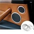 Interior Car Door Speaker Decorative Cover Trim For BMW X5 E70 2009-2013 6pcs