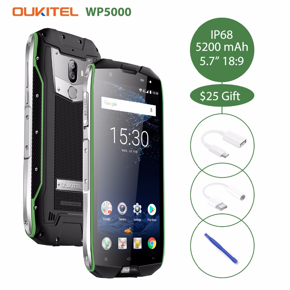 2018 <font><b>Oukitel</b></font> <font><b>WP5000</b></font> Waterproof IP68 5.7