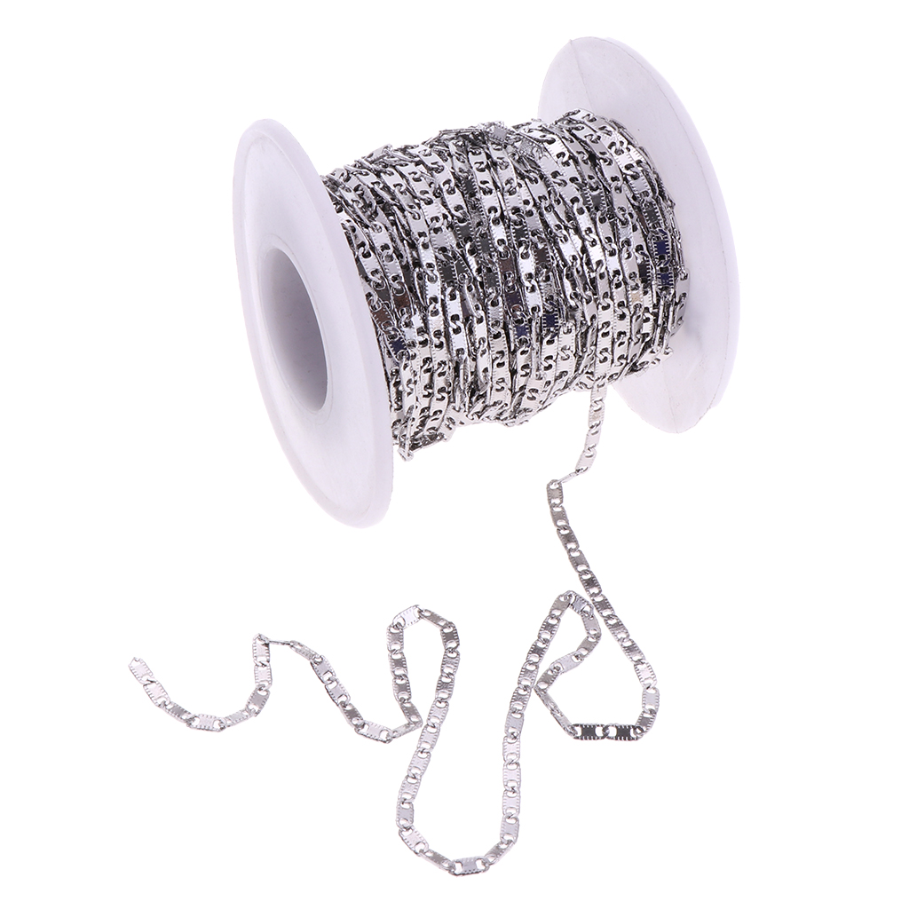 1 Roll Stainless Steel Cable Chain Necklace for Men Women DIY Crafting Gold