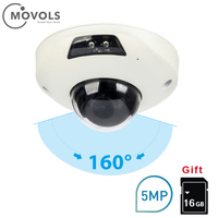 MOVOLS IP Camera Outdoor 5MP IP67 Waterproof 160 degree PoE Security Camera Dome CCTV Nightvision Home Camera