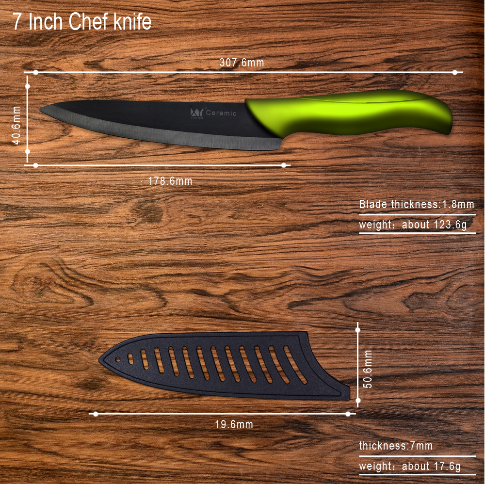 7 Inch Chef Knife Xyj Ceramic Blade Kitchen Knife Cheap Cooking