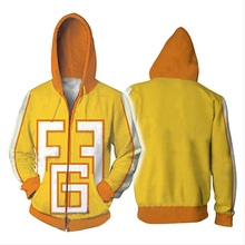 Mijn Hero Academia Hoodie Cosplay Geel 3D Print Rits Fatgum Hoody Hoodies Mannen Vrouwen Sweatshirts
