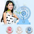 New Rechargeable Portable Handheld Humidifier Fan USB Office Cooling Mist Water Spray Air Conditioning Moisturizing Fan