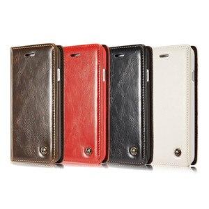 Image 5 - Flip deri iPhone için kılıf 5 5S SE 6 7 8 artı manyetik kart cüzdan kapak iPhone 11 Pro max X XR XS Max telefon kılıfı
