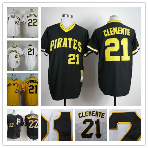 1162bda3e 2015 Pittsburgh Pirates jersey shirt Embroidery  21 Roberto Clemente Jersey  authentic pittsburgh pirates throwback jersey custom