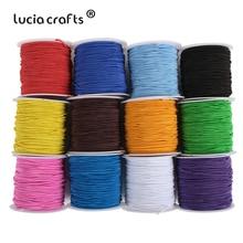 1 рулон/лот(20 метров/рулон) 1 мм Красочный Эластичный Канатный шнур кристалл шнур для изготовления ювелирных изделий бисер проволока W0406