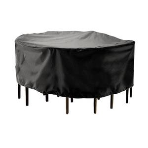 Image 2 - Funda redonda de 2 tamaños, cobertor para muebles de jardín, impermeable, para lluvia, nieve, para sofá, Mesa, a prueba de polvo