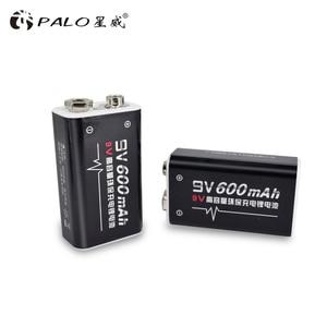 Image 1 - פאלו 4 pcs ליתיום 600 mAh 9 V נטענת סוללות סוללה עבור GM300 IR מדחום אינפרא אדום שלט רחוק אלקטרוני מוצרים