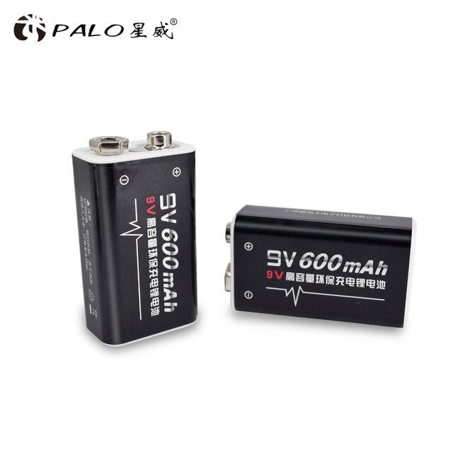 פאלו 4 pcs ליתיום 600 mAh 9 V נטענת סוללות סוללה עבור GM300 IR מדחום אינפרא אדום שלט רחוק אלקטרוני מוצרים