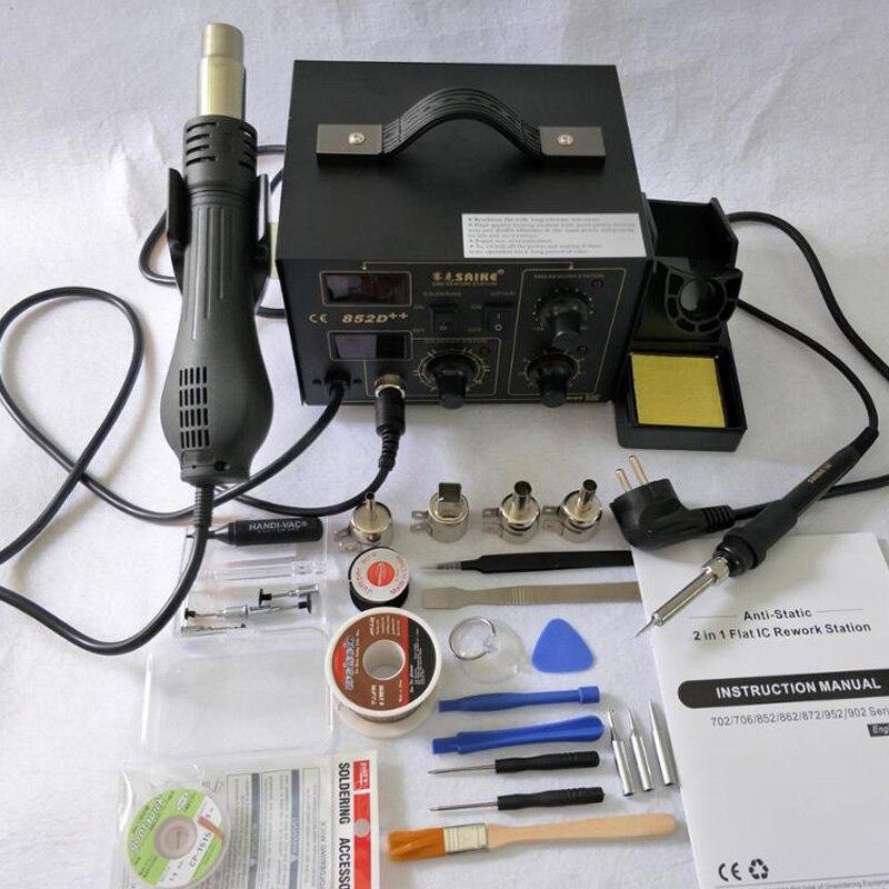 BGA Rework Station Hot Gun Soldering Station Saike 852D++ 2 in 1 220V or 110V Iron Solder Soldering Heat Gun все цены