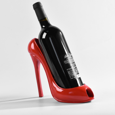 Personality high heel shoes red wine bottle Creative living room art crafts statues sculpture Home wedding decoration dies