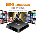 Francés Árabe IPTV Box Quad Core M8S TV Box 2 GB/8 GB Con Leadtv Para Deportes En Vivo Canal Plus Niños MBC Cielo Europa Deportes