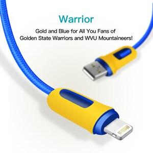 Image 3 - Snowkids Kabel 2 stks/partij voor iPhone X 8 7 6 5 XR XsMax Warriors Ontwerp 1.5m voor Lightning naar USB Snel Opladen